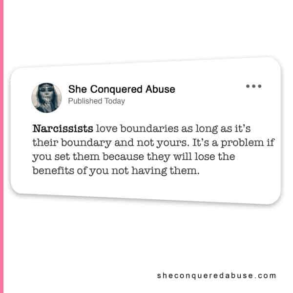 narcissist hate boundaries