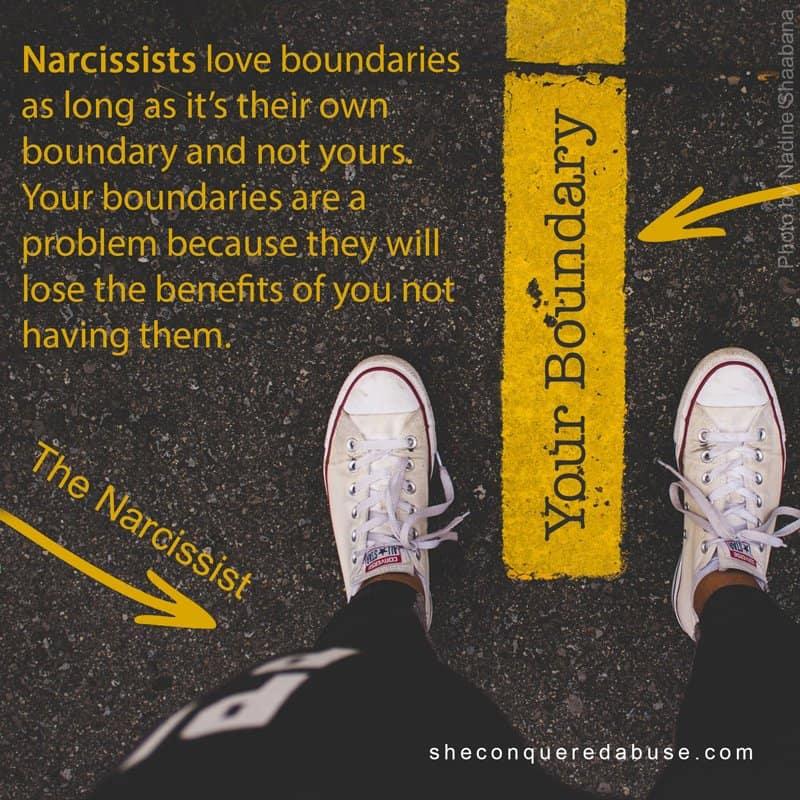 narcs hate boundaries