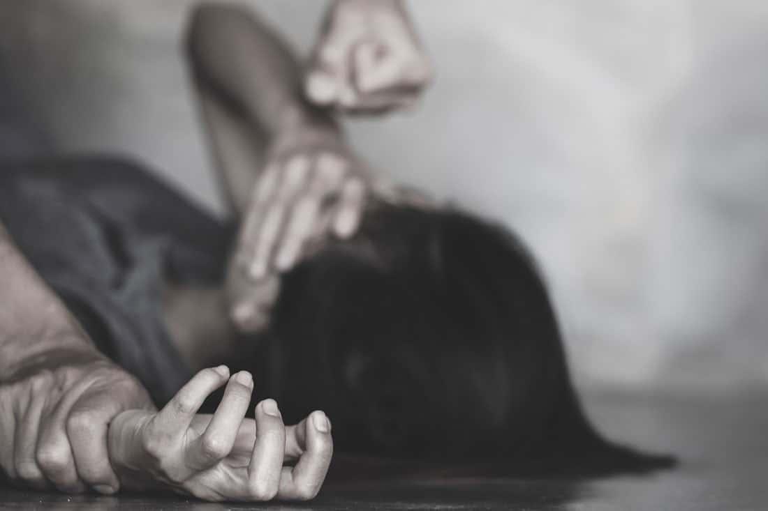 domestic violence man hitting woman